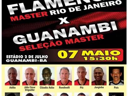 Flamengo Master Vai Jogar Em Guanambi No Dia 7 De Maio O